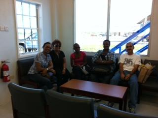 CDA 2012 group waiting for Tour plane